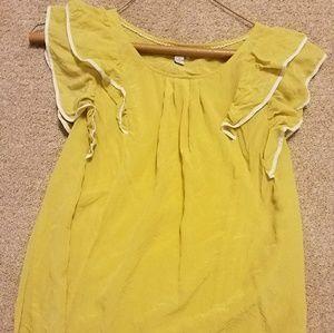 Odille all flutter silk shirt. Size 4. Ruffled